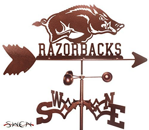 Hand Made ARKANSAS RAZORBACKS GARDEN Stake Weathervane ~NEW~ by SWEN Products