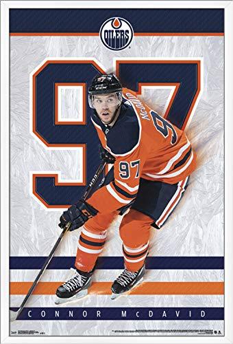 Trends International NHL Edmonton Oilers - Connor McDavid Wall Poster, 22.375
