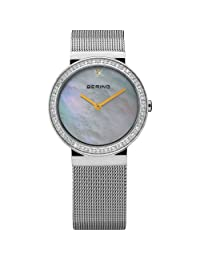 Bering Time 10725-010 Ladies Pearl and Silver Watch