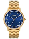 Nixon Men's 'Porter' Quartz Stainless Steel Casual Watch, Color:Gold-Toned (Model: A1057)