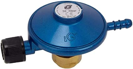 Regulador de gas GLP IGT con manómetro - butano 28 Mbar - A310I
