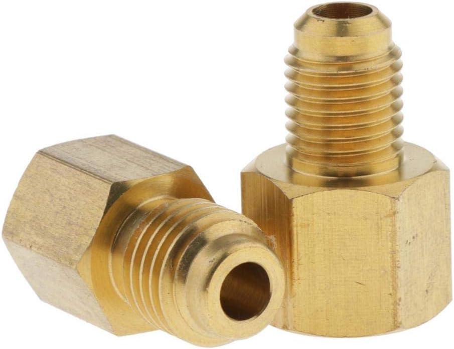 LOVIVER 2x Adapter Schnellkupplung 1//2 ACME x 1//4 SAE f/ür Klimaanlage