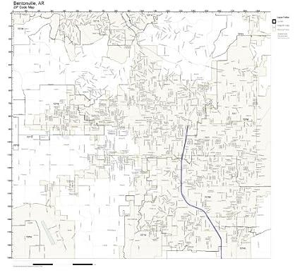 Amazon.com: ZIP Code Wall Map of Bentonville, AR ZIP Code Map