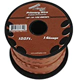 BROWN 14 gauge 100 Feet Power Cable Car Audio Primary Remote Wire Copper mix