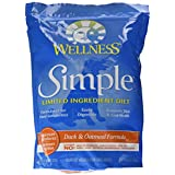 Wellness Simple Natural Dry Limited Ingredient Dog Food, Duck & Oatmeal, 4.5-Pound Bag