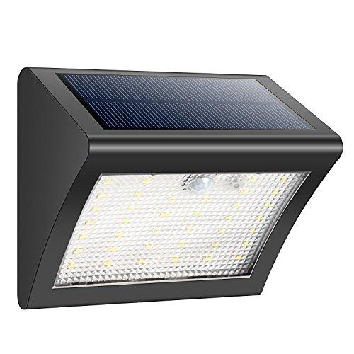iPosible Solar Lights, 38 LED Motion Sensor Security Lights Wireless 3...