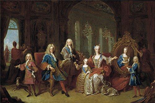 The Polyster Canvas Of Oil Painting 'Ranc Jean La Familia De Felipe V Ca. 1723 ' ,size: 8 X 12 Inch / 20 X 31 Cm ,this Reproductions Art Decorative (Bond Themed Party Costume)