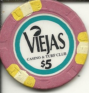 $5 viejas casino casino chip alpine california yellow and white - Viejas Alpine