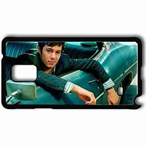 Personalized Samsung Note 4 Cell phone Case/Cover Skin Adam Brody Dark Haired Car Jacket Photoshoot Black
