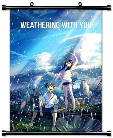 Amazon Com Weathering With You Tenki No Ko Anime Fabric Wall Scroll Poster 16x24 Inches Amei Weathering With You 1 Posters Prints