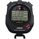 Professional Timer Stopwatch, Digital Sports Stopwatch with Countdown Timer, 100 Lap Memory, 0.001 Second Timing,Water…