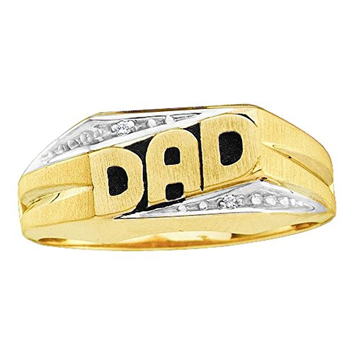 10k Gold Dad Diamond Ring - 7
