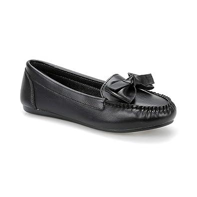 6b4869371f8ad Miss F Ds19028 Siyah Kadın Loafer Ayakkabı: Amazon.com.tr: FLO ...