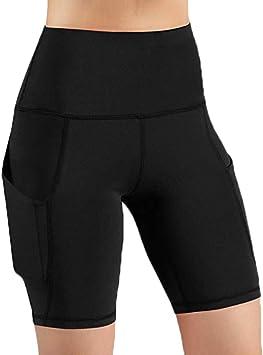 MINXINWY Mallas Cortas Mujer, Leggins de Mujer Fitness Deportes ...