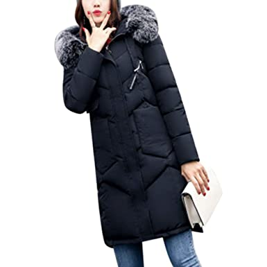 Leoie Winter Jackets for Women Girls Long XXL Thickened Down Jackets Women  Fashionable Warm Plus Size 48e2b8aba