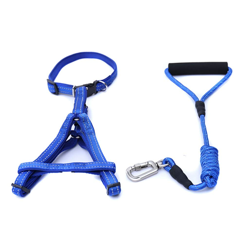 bluee M bluee M JIANXIN Dog Leash, Dog Chest Strap with Dog Leash, Medium and Small Dog Leash, 2 colors, 3 Sizes (color   bluee, Size   M)