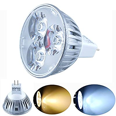 Excellent MR16 Warm White DC 12V 4W LED Bulb 150LM LED Bulb Lamps Spot Lights for Display Lighting (Pack of 1)