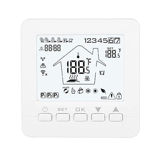 SODIAL 16A08-5BB-WIFI Termostato Inteligente CalefaccióN EléCtrica ...