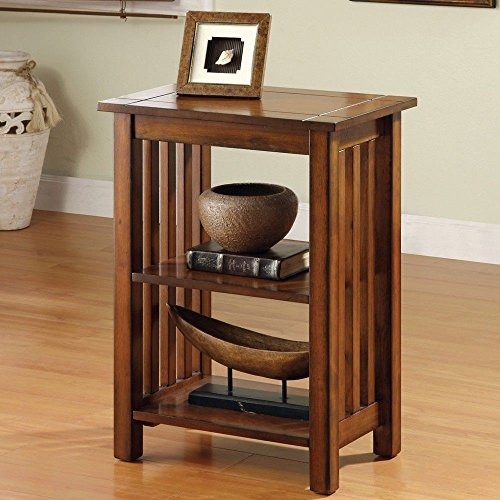 1PerfectChoice Mission Antique Oak Solid Wood Hallway Telephone Plant Stand