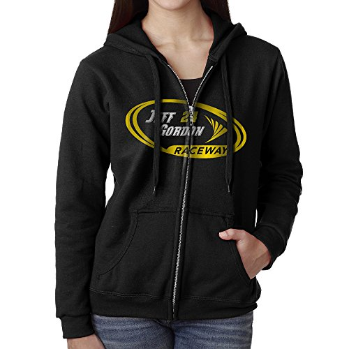 KOBT Women's Jeff Gordon-nascar Zip-Up Sweatshirt Jackets Black Size M