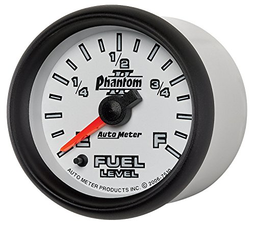 Auto Meter 7510 Phantom II 2-1/16'' Universal Stepper Full Sweep Fuel Level Programmable Empty - Full Range Gauge by Auto Meter (Image #6)