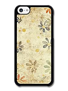 MMZ DIY PHONE CASEFlowers Floral Vintage Style Print case for iphone 5/5s