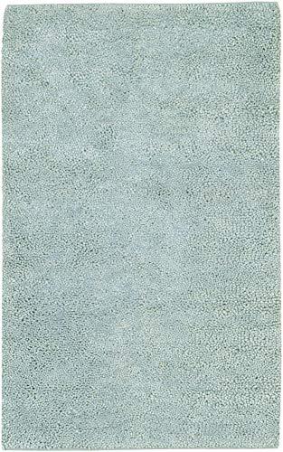 Surya AROS11-8106 Aros 8' x 11' Rectangle Wool Hand Woven Solid Area Rug, - Rug Shag Aros Green
