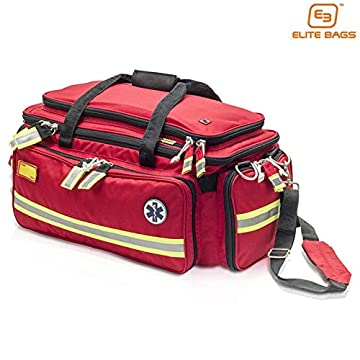 Image of First Aid Kits Elite Bags EMS Emergency Bag | Critical'S Emergency's Bag for The Advanced Life Support (Red) | First Responder | EMT Bag | First Aid Kit