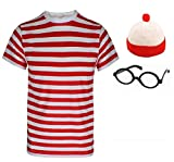Best World Book Day Costumes - Girls Boys Wheres the Nerd Red & White Review