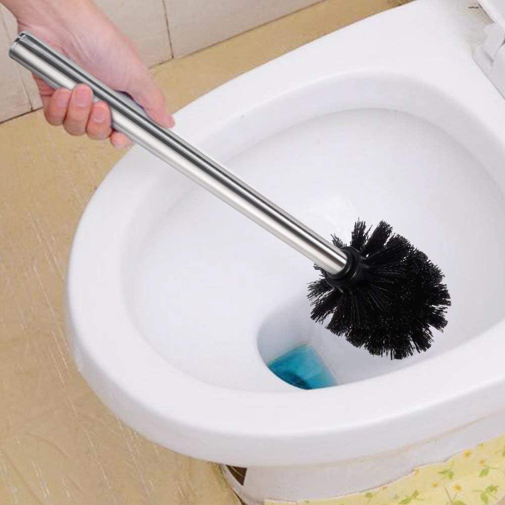 Nero Spazzolino per WC con Manico in Acciaio Inox Colore TYPHEERX