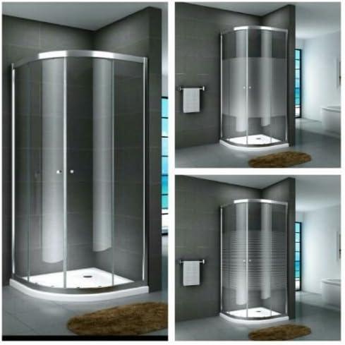 Cabina de ducha en forma de cuarto de círculo para esquina ...