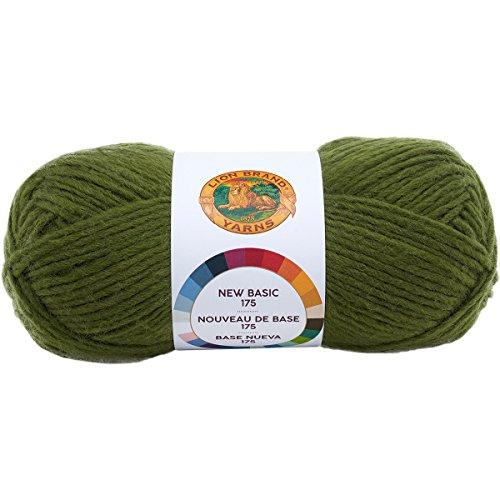 Lion Brand Yarn 675-174 New Basic 175 Yarn, Olive,