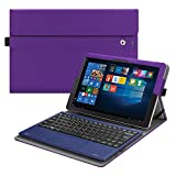 Fintie 2018 RCA Cambio 10.1'' W101SA23T1S Case - [Multi-Angle Viewing] Portfolio Business Cover for 10.1 inch RCA Cambio 2-in-1 Window Tablet with Kickstand, Violet