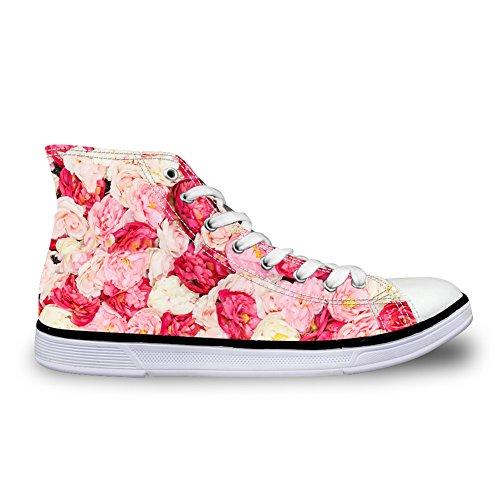 Casual Design Damen Leinwand Hallo Floral Pink Schuhe Senakers CHAQLIN Damen Top Funky R7wZUBtzxq