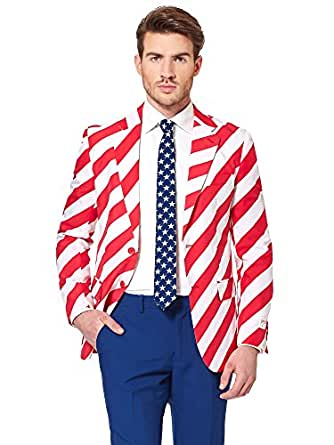 Opposuits American Flag Suit For Men Usa Outfit For The 4th Of
