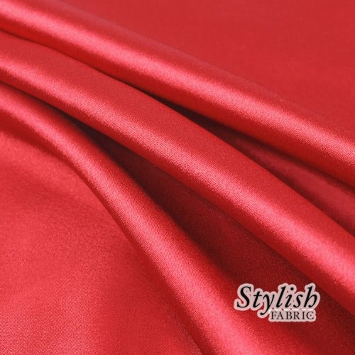 60'' Red Charmeuse Satin Fabric by the Bolt- 25 Yards
