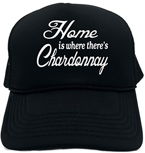 Signature Depot Funny Trucker Hat (Home is where there's Chardonnay) Unisex Adult Foam Cap