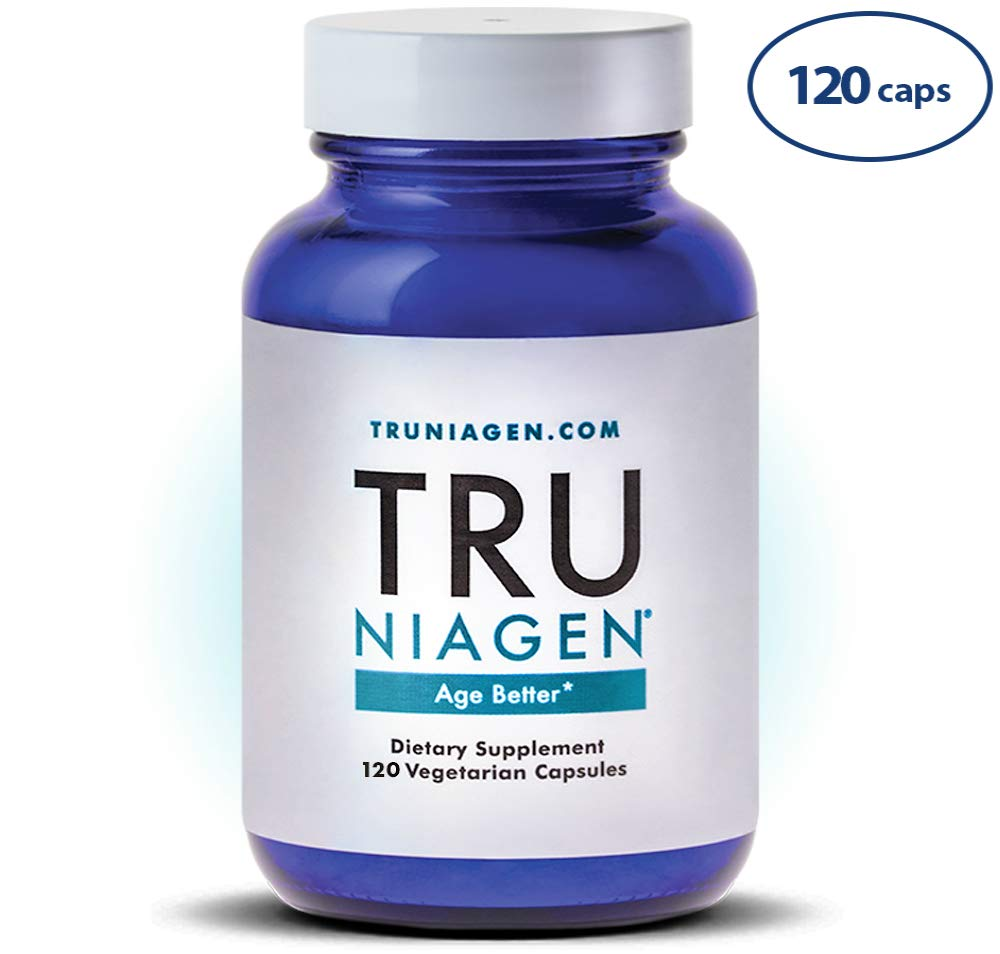 TRU NIAGEN Nicotinamide Riboside – Patented NAD Booster for Cellular Repair Energy, Vitamin B3 Niacin NMN, 150mg Vegetarian Capsules, 300mg Per Serving, 60 Day Bottle