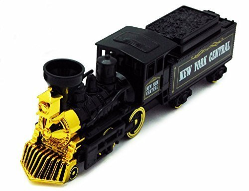 Showcasts Classic Steam Engine Train, Black & Gold 9932A - 9.75 Inch Scale Diecast Model Replica, but NO Box