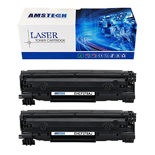 3000 Black Ink Cartridge (Amstech 2 Pack High Yield 3,000 Pages Black Compatible Laserjet 278A CE278A 78A Toner Cartridge for 78A Laserjet Pro P1606DN M1536DNF 1606DN 1536DNF Toner Cartridge Printer Ink)