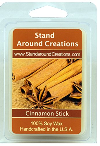 100% All Natural Soy Wax Melt Tart - Cinnamon Stick: A full bodied scent of rich spicy cinnamon. This fragrance is infused with natural essential oils, including Cinnamon, Clove, Cinnamon Bark and Nut