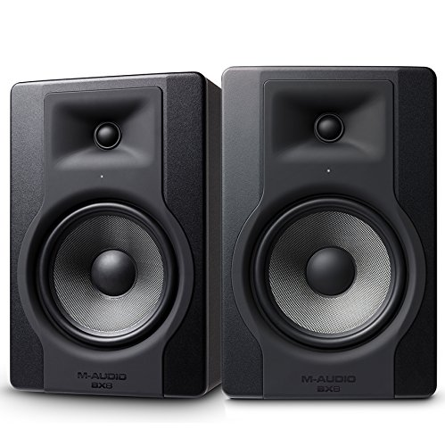 M-Audio BX8 D3 150 W, 8 Inch Active Studio Monitor Speaker (Pair) for Music...