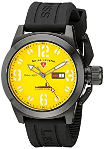 Swiss Legend 10543-BB-07 - Reloj , correa de goma color negro