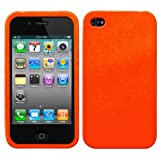 Orange Silicone Rubber Skin / Case / Cover for Apple iPhone 4S / iPhone 4