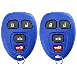 key for pontiac g6 blue - KeylessOption Keyless Entry Remote Control Car Key Fob Replacement for 15252034 -Blue (Pack of 2)