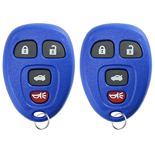 KeylessOption Keyless Entry Remote Control Car Key Fob Replacement for 15252034 -Blue (Pack of 2)