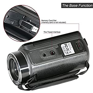 Besteker WIFI Camcorder FHD 1080P 30FPS Video Camera with 16X Digital Zoom 3'' Touch Screen USB/HDMI Output and 3.5mm Recording Interview External Microphone (HDV-Z20)