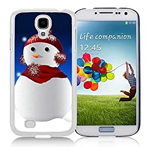 Hot Sell Samsung S4 TPU Protective Skin Cover Christmas Snowman White Samsung Galaxy S4 i9500 Case 8