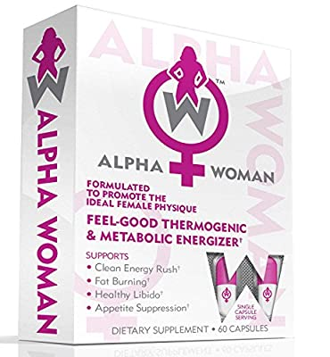 ALPHA WOMAN - Weight Loss Supplement, 4-In-1 Thermogenic Energizer, Appetite Control & Mood Enhancer, 60 Capsules
