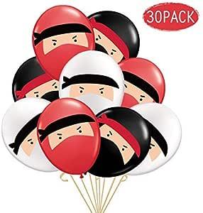 KREATWOW 30-Pack Globos de Ninja, Globos de látex Impresos